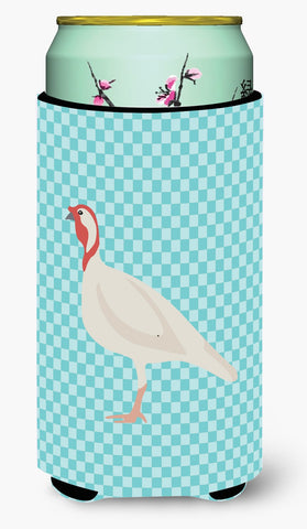 Buy this Beltsville Small White Turkey Hen Blue Check Tall Boy Beverage Insulator Hugger BB8163TBC