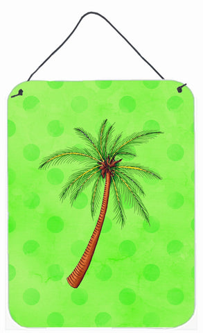 Buy this Palm Tree Green Polkadot Wall or Door Hanging Prints BB8165DS1216