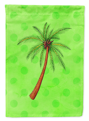 Buy this Palm Tree Green Polkadot Flag Garden Size BB8165GF