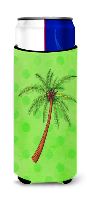 Buy this Palm Tree Green Polkadot Michelob Ultra Hugger for slim cans BB8165MUK