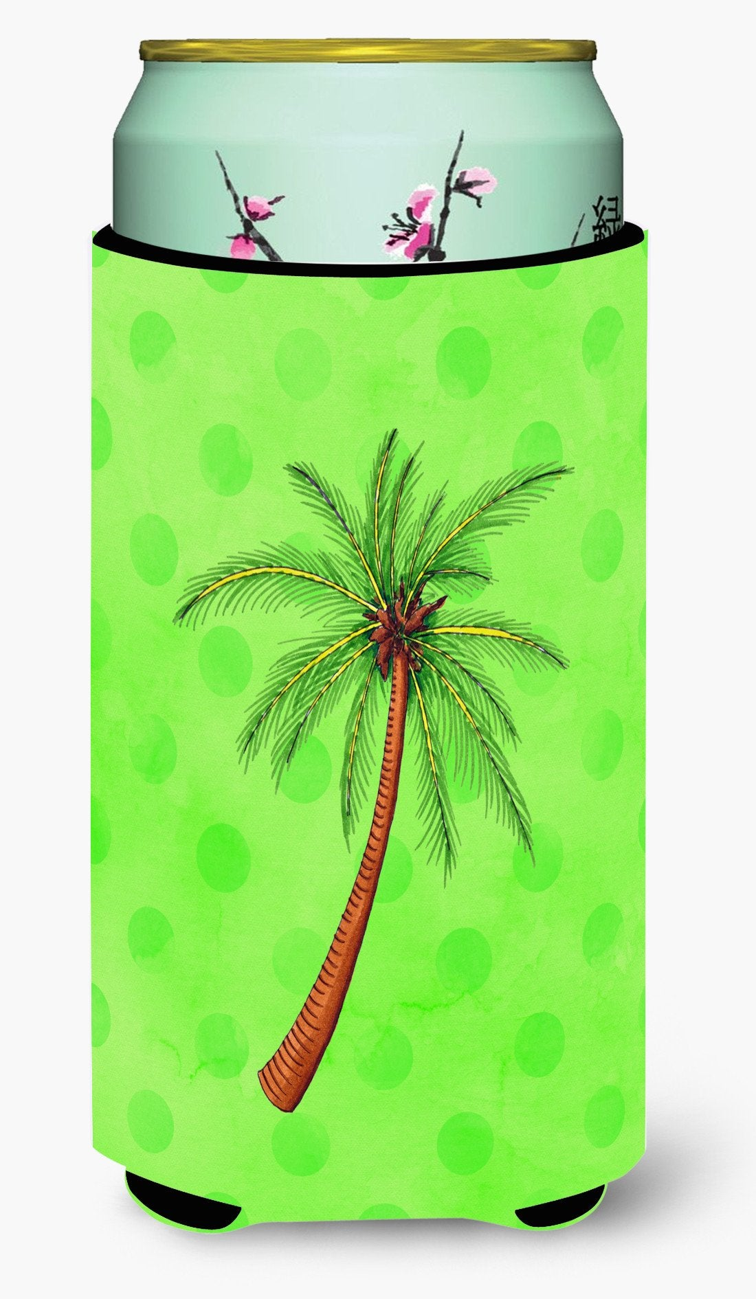 Buy this Palm Tree Green Polkadot Tall Boy Beverage Insulator Hugger BB8165TBC
