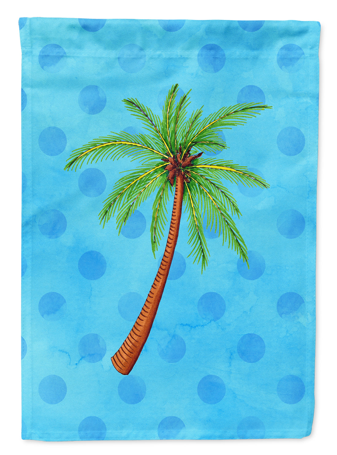 Buy this Palm Tree Blue Polkadot Flag Canvas House Size BB8166CHF