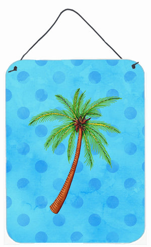 Buy this Palm Tree Blue Polkadot Wall or Door Hanging Prints BB8166DS1216