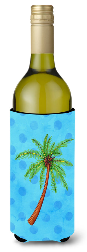 Buy this Palm Tree Blue Polkadot Wine Bottle Beverge Insulator Hugger BB8166LITERK