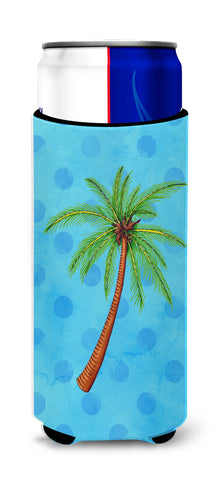 Buy this Palm Tree Blue Polkadot Michelob Ultra Hugger for slim cans BB8166MUK