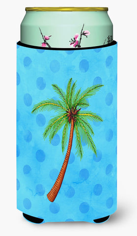 Buy this Palm Tree Blue Polkadot Tall Boy Beverage Insulator Hugger BB8166TBC
