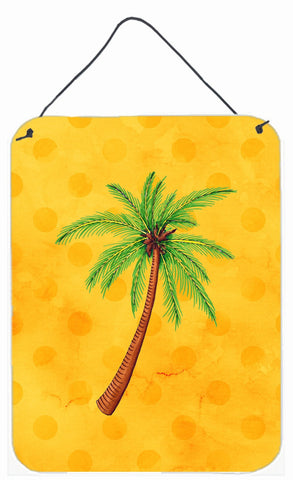 Buy this Palm Tree Yellow Polkadot Wall or Door Hanging Prints BB8167DS1216