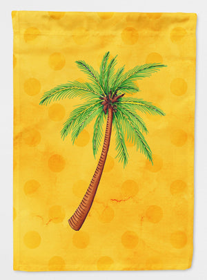Buy this Palm Tree Yellow Polkadot Flag Garden Size BB8167GF
