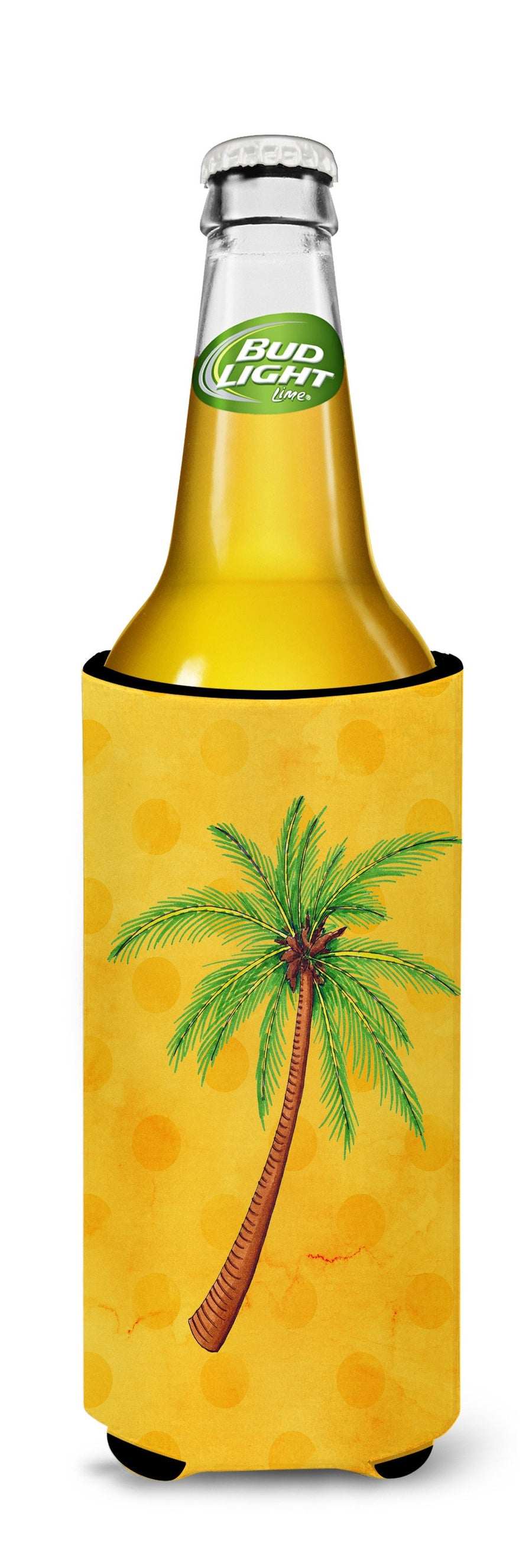 Buy this Palm Tree Yellow Polkadot Michelob Ultra Hugger for slim cans BB8167MUK