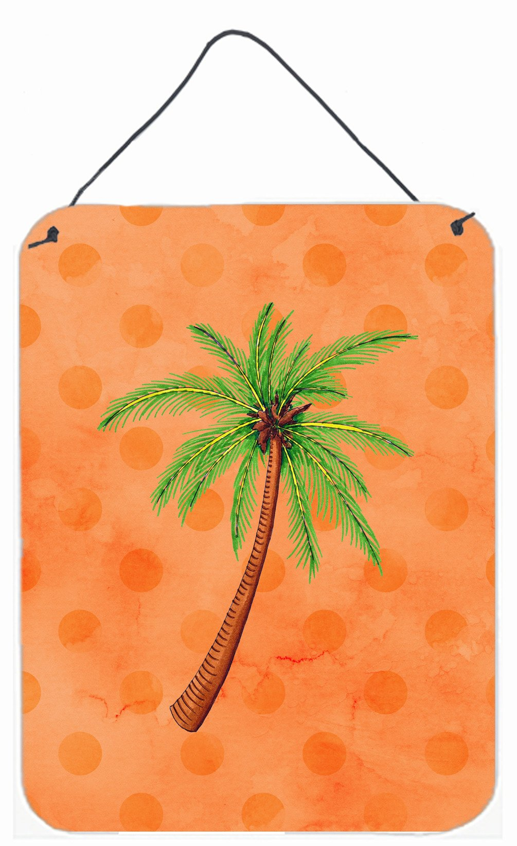 Buy this Palm Tree Orange Polkadot Wall or Door Hanging Prints BB8168DS1216