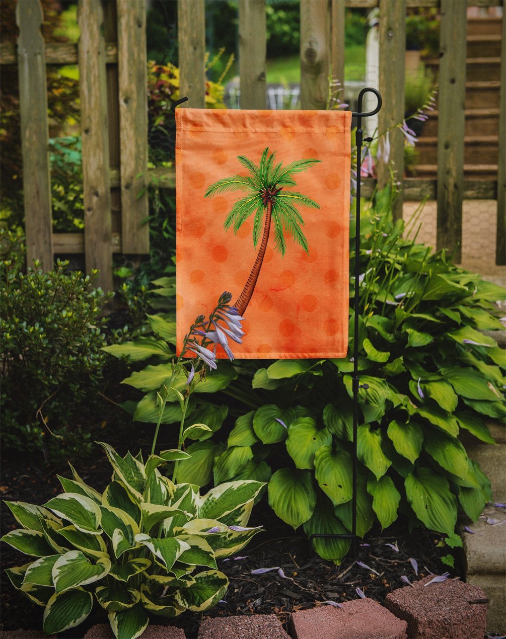 Palm Tree Orange Polkadot Flag Garden Size BB8168GF by Caroline's Treasures