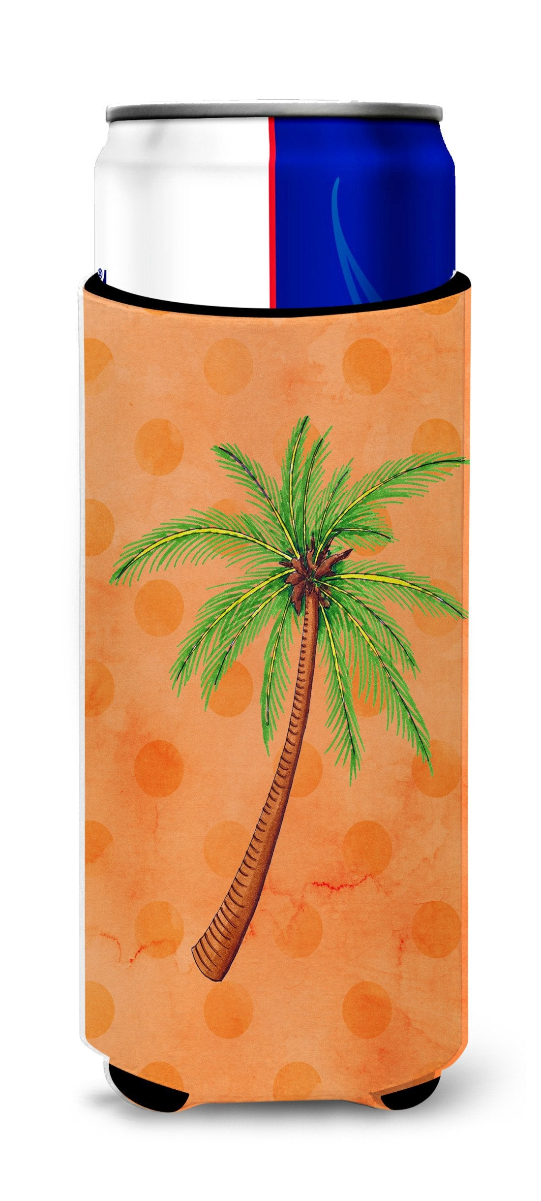 Palm Tree Orange Polkadot Michelob Ultra Hugger for slim cans BB8168MUK by Caroline's Treasures