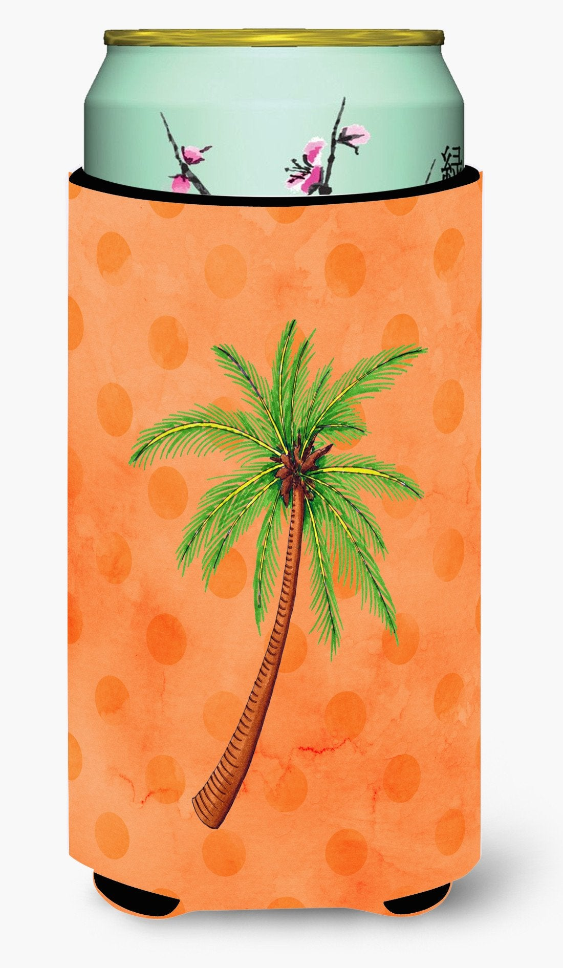 Palm Tree Orange Polkadot Tall Boy Beverage Insulator Hugger BB8168TBC by Caroline's Treasures