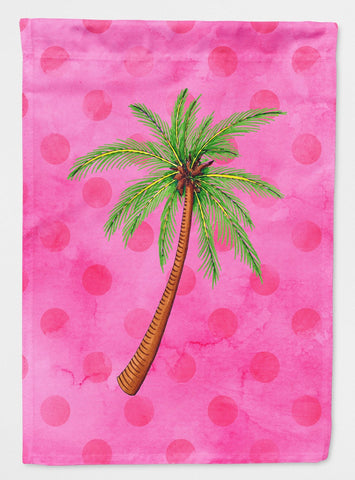 Buy this Palm Tree Pink Polkadot Flag Garden Size BB8169GF