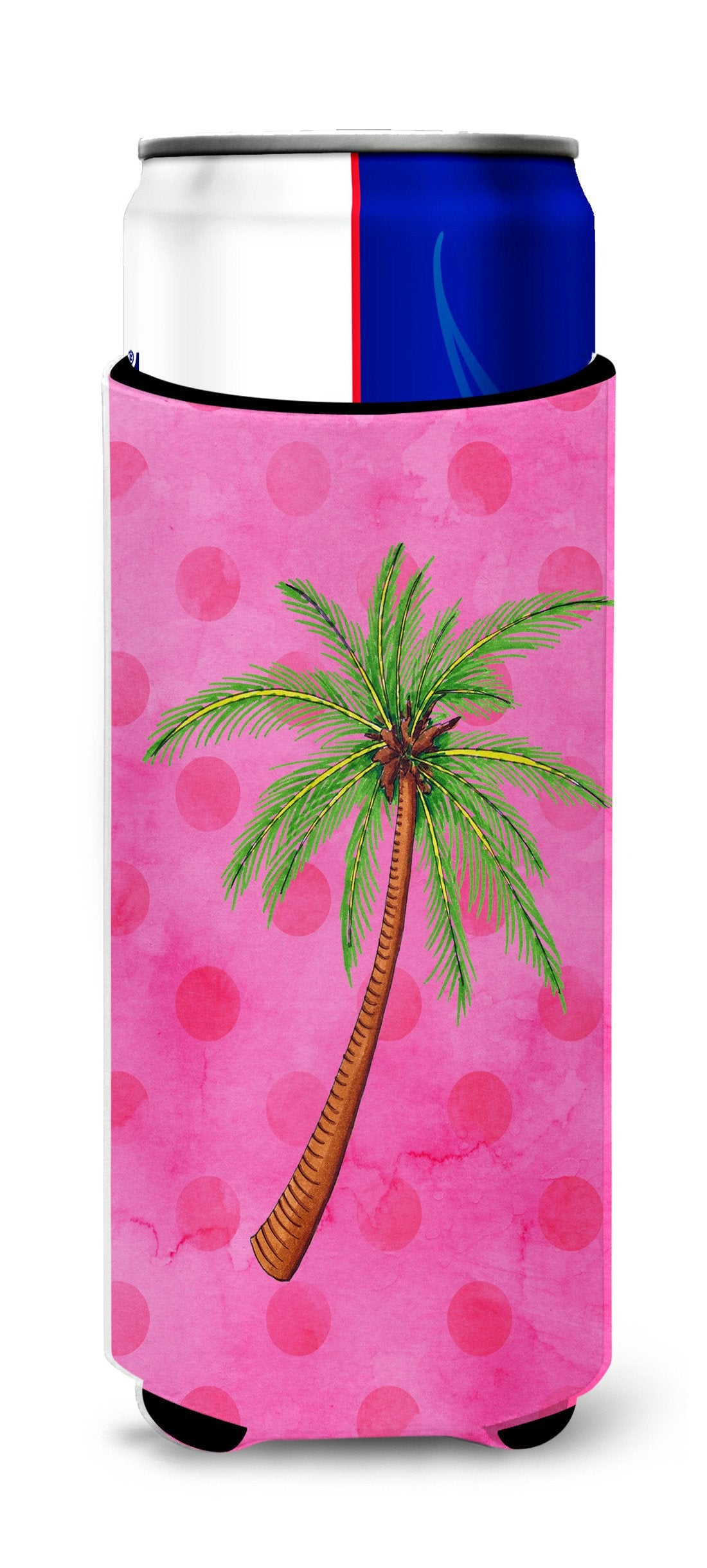 Palm Tree Pink Polkadot Michelob Ultra Hugger for slim cans BB8169MUK by Caroline's Treasures