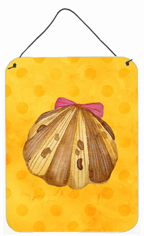 Buy this Sea Shell Yellow Polkadot Wall or Door Hanging Prints BB8172DS1216