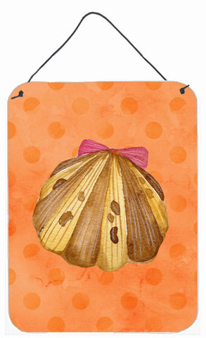 Buy this Sea Shell Orange Polkadot Wall or Door Hanging Prints BB8173DS1216