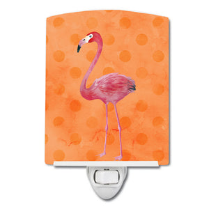 Buy this Flamingo Orange Polkadot Ceramic Night Light BB8188CNL