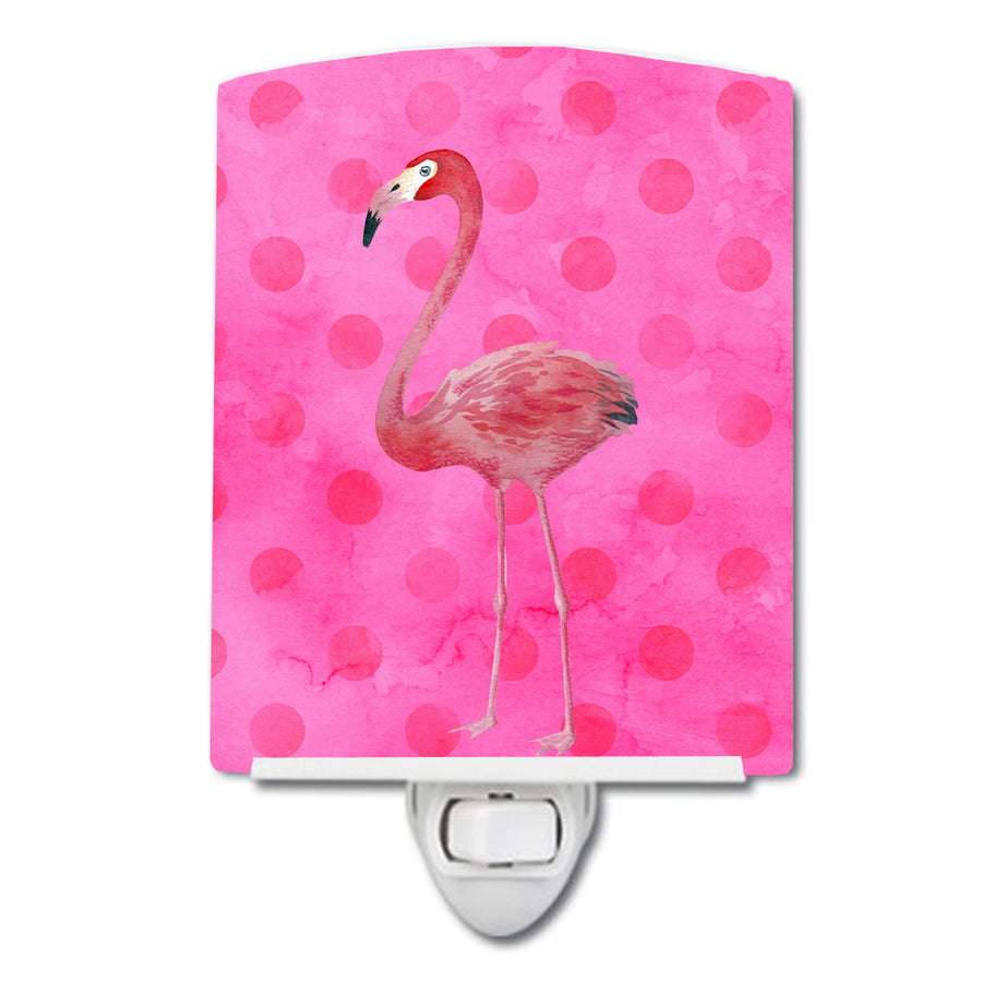 Buy this Flamingo Pink Polkadot Ceramic Night Light BB8189CNL