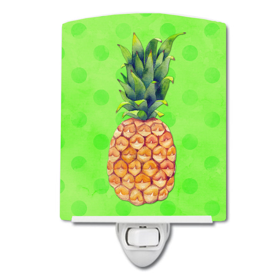 Buy this Pineapple Green Polkadot Ceramic Night Light BB8190CNL