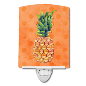 Buy this Pineapple Orange Polkadot Ceramic Night Light BB8193CNL