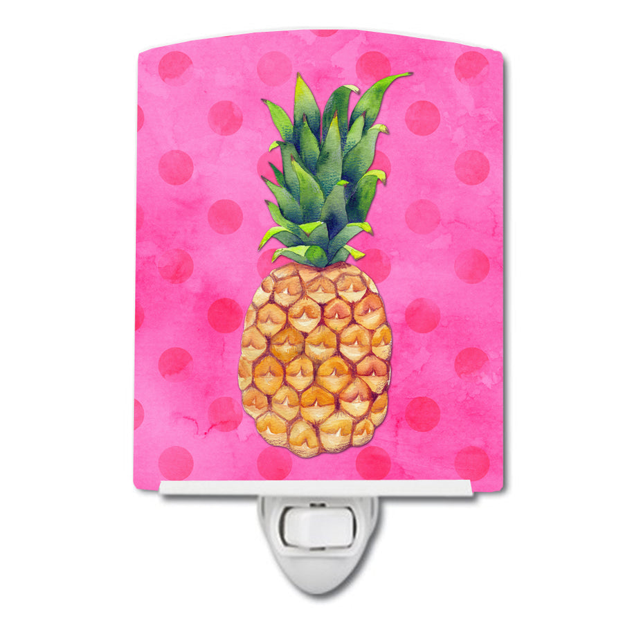 Buy this Pineapple Pink Polkadot Ceramic Night Light BB8194CNL