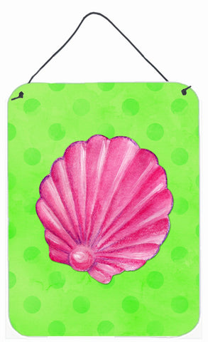 Buy this Pink Sea Shell Green Polkadot Wall or Door Hanging Prints BB8240DS1216