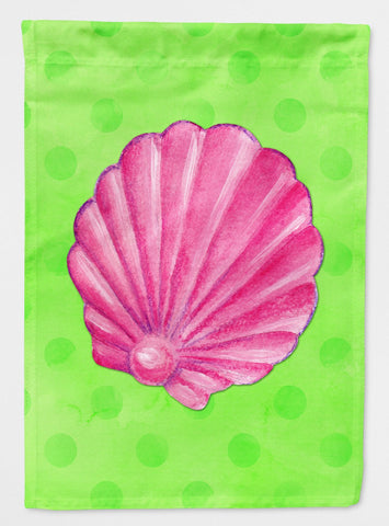 Buy this Pink Sea Shell Green Polkadot Flag Garden Size BB8240GF