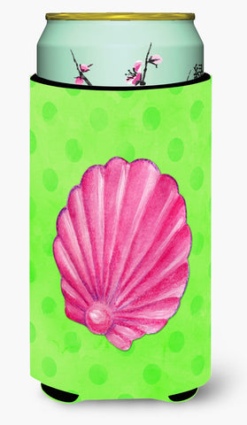 Buy this Pink Sea Shell Green Polkadot Tall Boy Beverage Insulator Hugger BB8240TBC