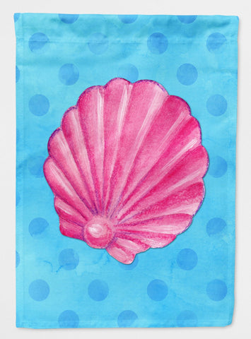 Buy this Pink Sea Shell Blue Polkadot Flag Garden Size BB8241GF