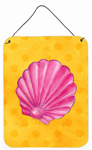 Buy this Pink Sea Shell Yellow Polkadot Wall or Door Hanging Prints BB8242DS1216
