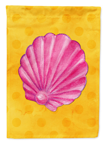Buy this Pink Sea Shell Yellow Polkadot Flag Garden Size BB8242GF
