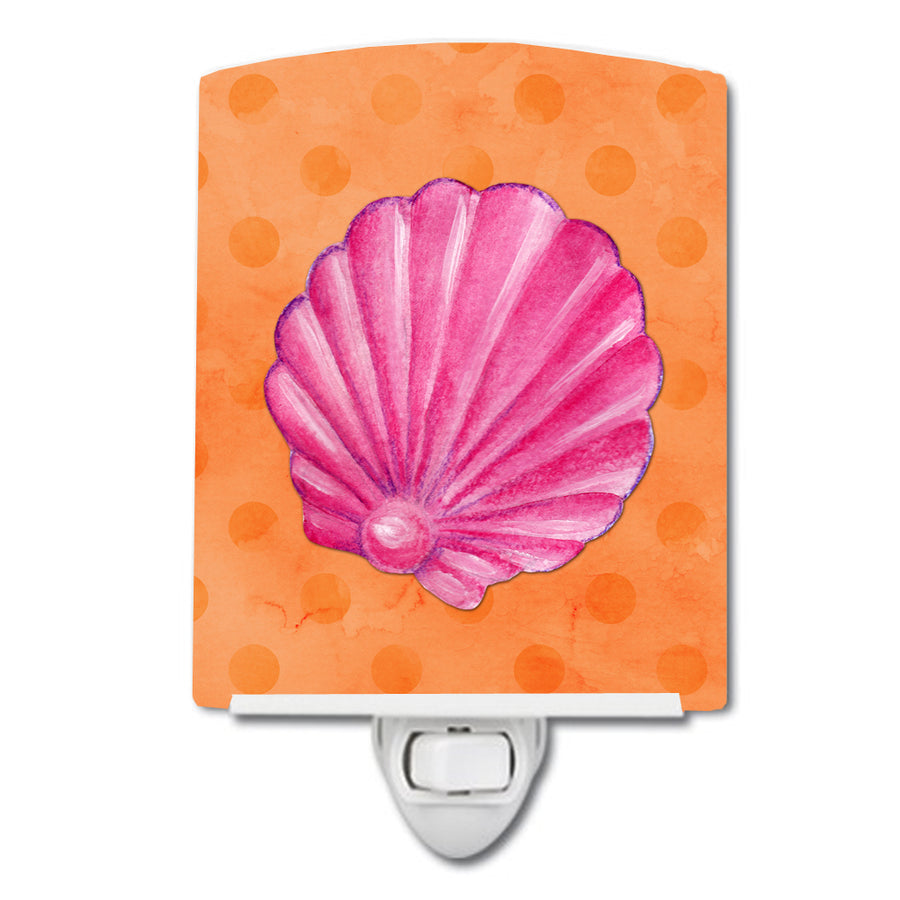 Buy this Pink Sea Shell Orange Polkadot Ceramic Night Light BB8243CNL