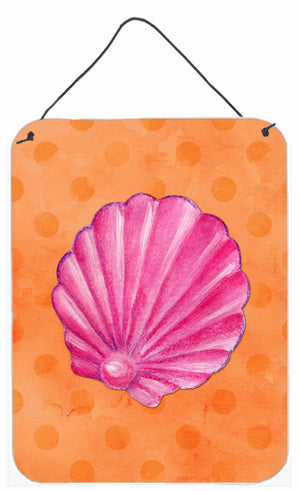Buy this Pink Sea Shell Orange Polkadot Wall or Door Hanging Prints BB8243DS1216