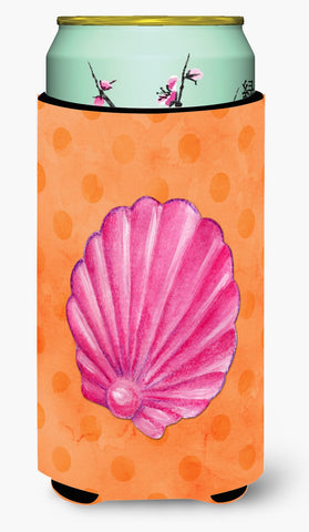 Buy this Pink Sea Shell Orange Polkadot Tall Boy Beverage Insulator Hugger BB8243TBC