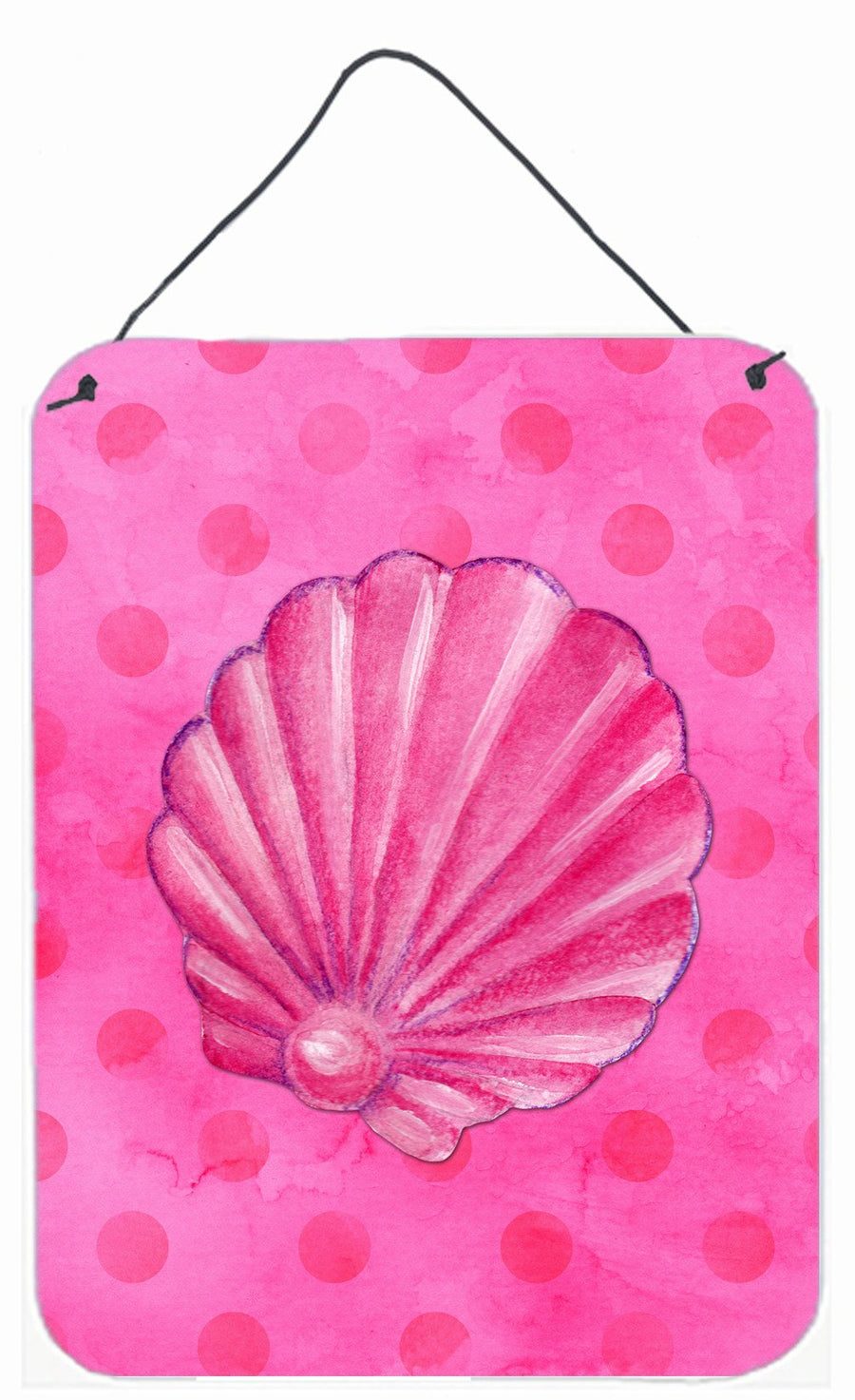 Buy this Pink Sea Shell Pink Polkadot Wall or Door Hanging Prints BB8244DS1216