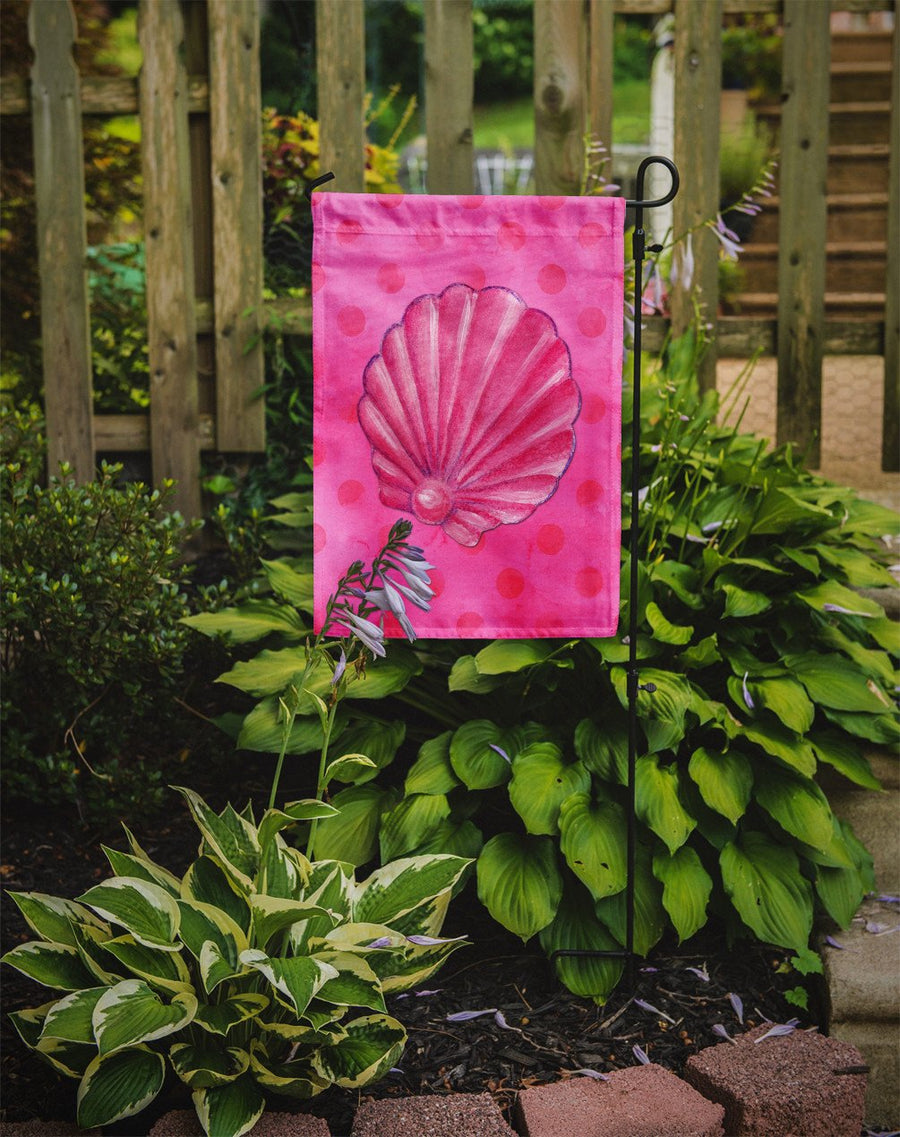 Buy this Pink Sea Shell Pink Polkadot Flag Garden Size BB8244GF