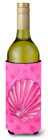 Buy this Pink Sea Shell Pink Polkadot Wine Bottle Beverge Insulator Hugger BB8244LITERK