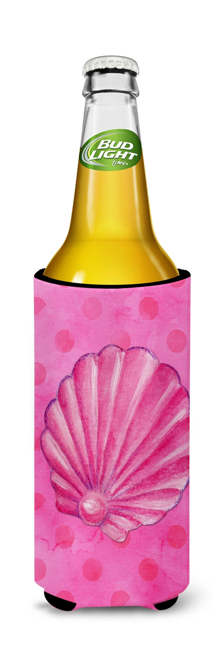 Buy this Pink Sea Shell Pink Polkadot Michelob Ultra Hugger for slim cans BB8244MUK