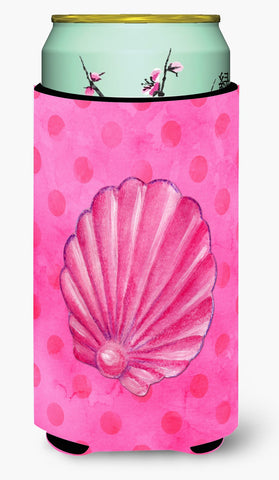Buy this Pink Sea Shell Pink Polkadot Tall Boy Beverage Insulator Hugger BB8244TBC