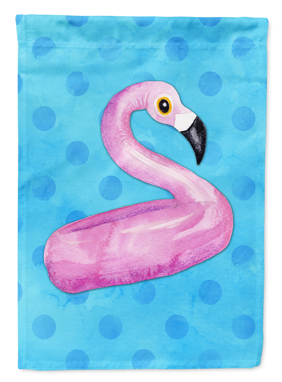 Buy this Flamingo Floaty Blue Polkadot Flag Canvas House Size BB8256CHF