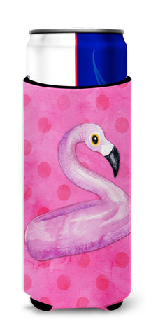 Buy this Flamingo Floaty Pink Polkadot Michelob Ultra Hugger for slim cans BB8259MUK