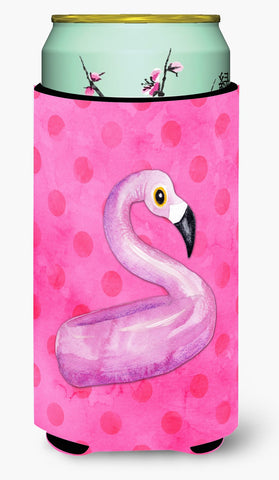 Buy this Flamingo Floaty Pink Polkadot Tall Boy Beverage Insulator Hugger BB8259TBC