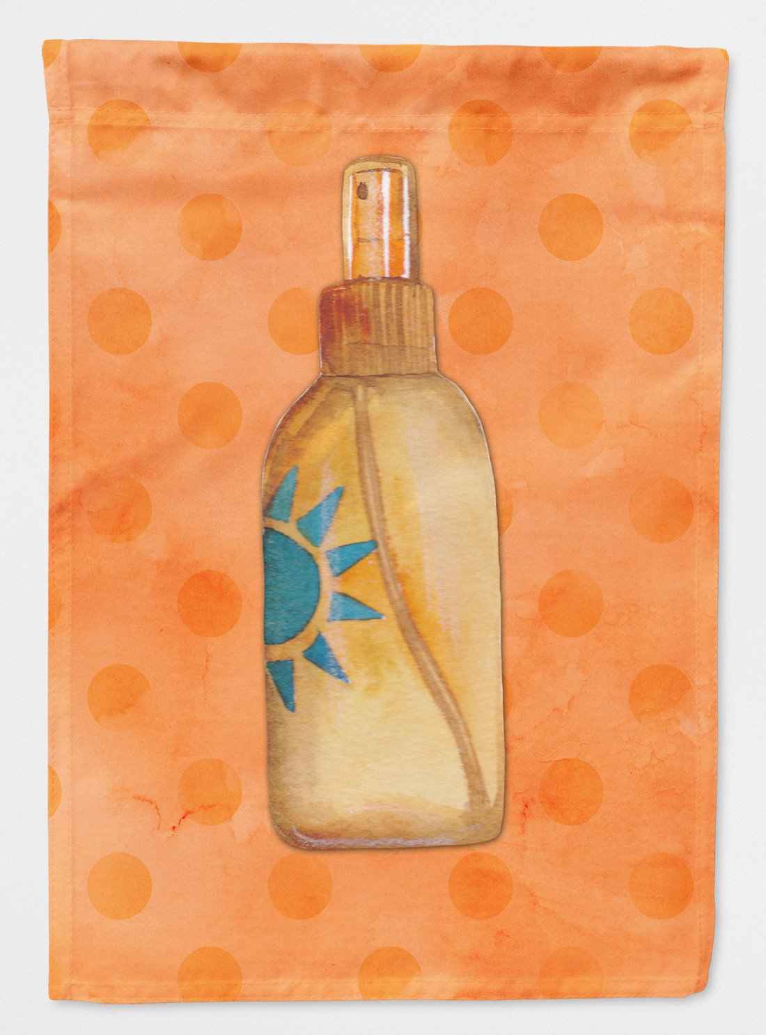 Message in a Bottle Orange Polkadot Flag Garden Size BB8263GF by Caroline's Treasures