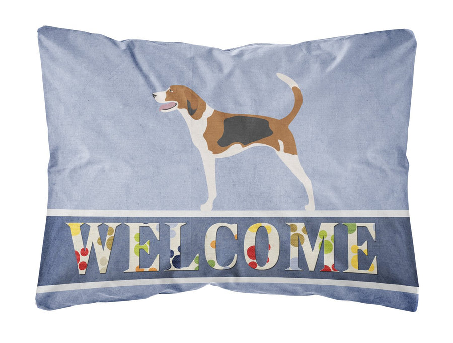 Buy this American Foxhound Welcome Canvas Fabric Decorative Pillow