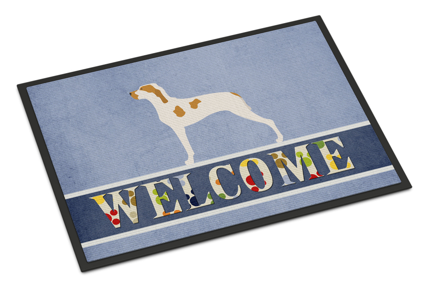 Ariege Pointer Welcome Indoor or Outdoor Mat 18x27 BB8272MAT by Caroline's Treasures