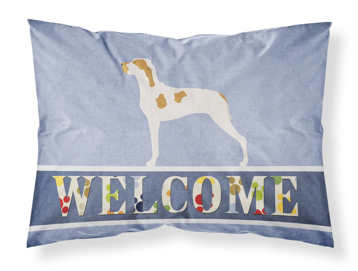 Ariege Pointer Welcome Fabric Standard Pillowcase BB8272PILLOWCASE by Caroline's Treasures