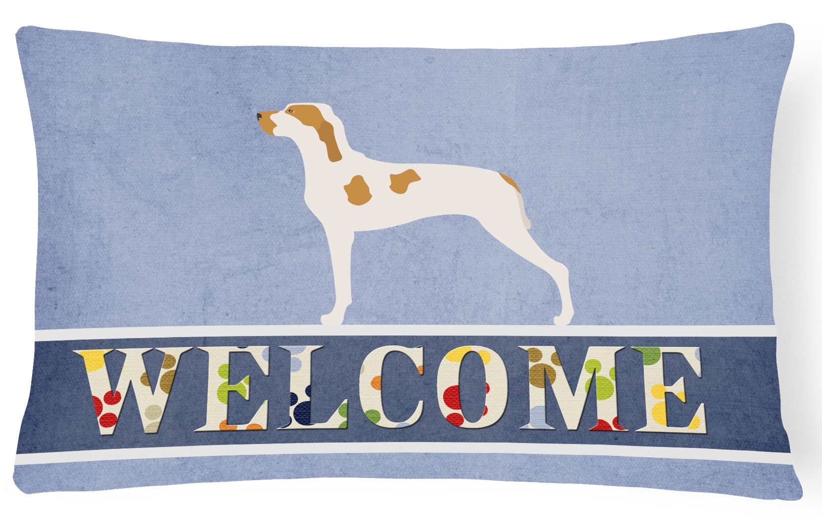Ariege Pointer Welcome Canvas Fabric Decorative Pillow BB8272PW1216 by Caroline's Treasures