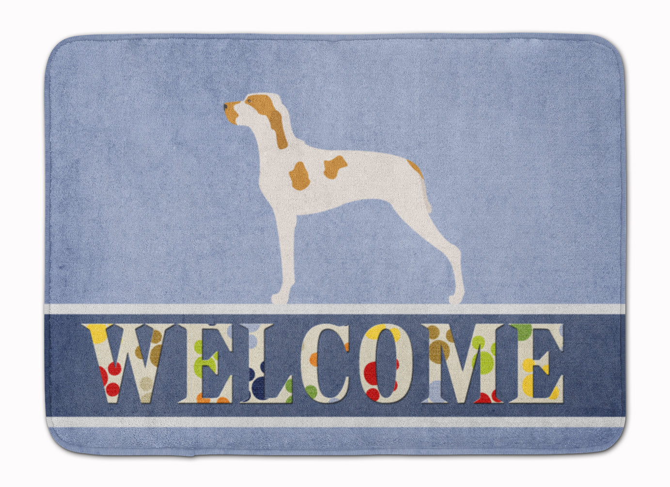 Ariege Pointer Welcome Machine Washable Memory Foam Mat BB8272RUG by Caroline's Treasures