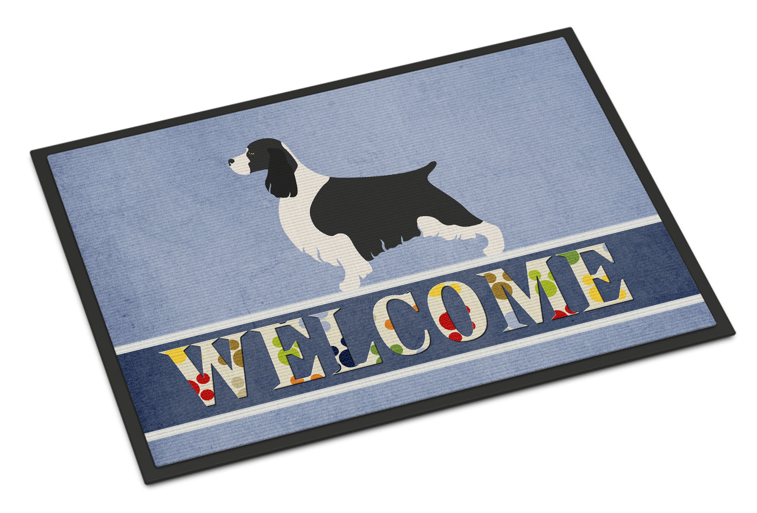 Buy this English Springer Spaniel Welcome Indoor or Outdoor Mat 18x27 BB8273MAT